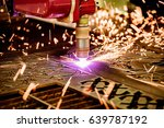 cnc laser plasma cutting of... | Shutterstock . vector #639787192