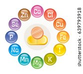 mineral vitamin supplement... | Shutterstock .eps vector #639793918