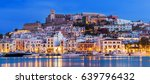 ibiza dalt vila downtown at... | Shutterstock . vector #639796432