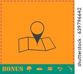 location icon flat. simple...