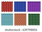 roof tiles. roofing materials... | Shutterstock .eps vector #639798856