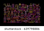 neon colors on a black... | Shutterstock .eps vector #639798886