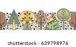 vector hand drawn seamless... | Shutterstock .eps vector #639798976