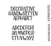 hand drawn vector alphabet ... | Shutterstock .eps vector #639801052