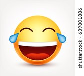 smiley laughing emoticon with... | Shutterstock .eps vector #639801886