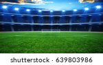 the soccer stadium with the...   Shutterstock . vector #639803986