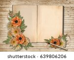 vintage background with book... | Shutterstock . vector #639806206