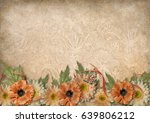 vintage background with lace... | Shutterstock . vector #639806212