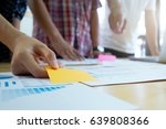 graphic design team meeing...   Shutterstock . vector #639808366
