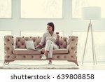 successful young beautiful... | Shutterstock . vector #639808858