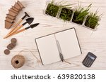 gardening tools  blank daily... | Shutterstock . vector #639820138