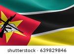 mozambique flag. illustration...   Shutterstock . vector #639829846