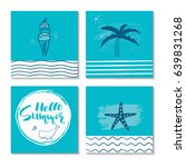 beautiful summer poster with... | Shutterstock .eps vector #639831268