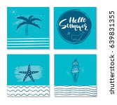 beautiful summer poster with... | Shutterstock .eps vector #639831355