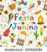 festa junina seamless pattern.... | Shutterstock .eps vector #639836086