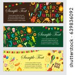 festa junina banner set with... | Shutterstock .eps vector #639836092