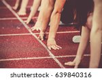 hands on starting line | Shutterstock . vector #639840316