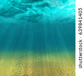 underwater background with sea... | Shutterstock .eps vector #639841405