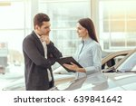 young people in a car rental...   Shutterstock . vector #639841642