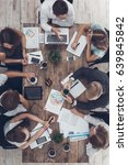 Small photo of Business people meeting in the office top view