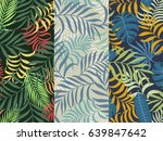 set of three seamless floral... | Shutterstock .eps vector #639847642