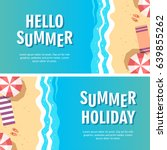summer holiday concept vector... | Shutterstock .eps vector #639855262