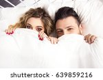 young happy couple lying... | Shutterstock . vector #639859216