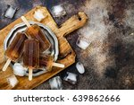 rum and coke cocktail popsicles ... | Shutterstock . vector #639862666
