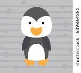cute little penguin kids t... | Shutterstock .eps vector #639864382