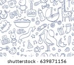 hand drawn seamless pattern... | Shutterstock .eps vector #639871156