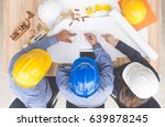 group of engineers and... | Shutterstock . vector #639878245
