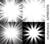 four templates for comic... | Shutterstock .eps vector #639881056