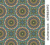 seamless oriental pattern.... | Shutterstock . vector #639883492