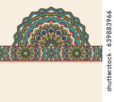 abstract oriental pattern with... | Shutterstock . vector #639883966