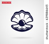 pearl in the shell. icon...   Shutterstock .eps vector #639886645