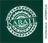 karate chalkboard emblem on... | Shutterstock .eps vector #639889126