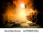 chess board game concept of... | Shutterstock . vector #639889282