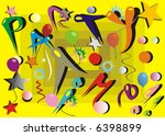 invitation to the party with... | Shutterstock .eps vector #6398899