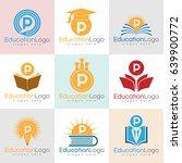 education initial letter p logo ... | Shutterstock .eps vector #639900772
