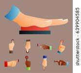 hand press red button finger... | Shutterstock .eps vector #639904585