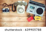 top view hero header   retro... | Shutterstock . vector #639905788