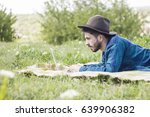 happy hipster  man working on... | Shutterstock . vector #639906382