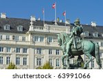 christian v statue located  at...   Shutterstock . vector #63991066