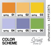 color chart for spring   vector ... | Shutterstock .eps vector #639910876