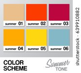 color chart for summer   vector ... | Shutterstock .eps vector #639910882