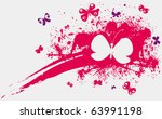 illustration with pink stain... | Shutterstock .eps vector #63991198