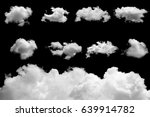 set of isolated clouds on black | Shutterstock . vector #639914782