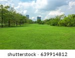 green grass field in park at... | Shutterstock . vector #639914812