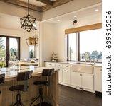 beautiful kitchen interior... | Shutterstock . vector #639915556