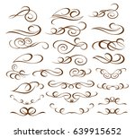 set decorative elements.brown... | Shutterstock .eps vector #639915652